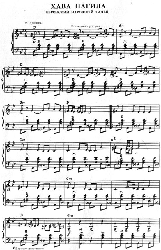 Хава нагила еврейская народная песня